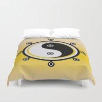 yin yang Duvet Covers featuring Yin yang by Nir P