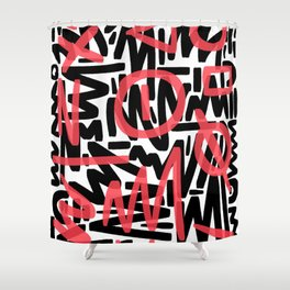 Graffiti 001 Shower Curtain