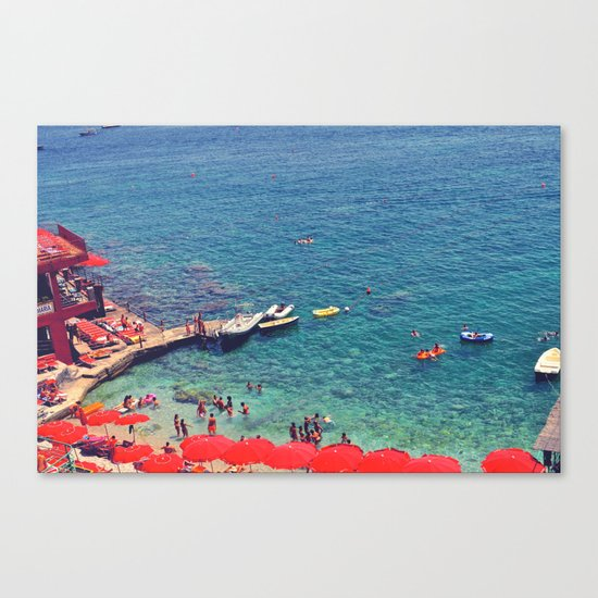 Summers in Capri are what dreams are made of. Canvas Print