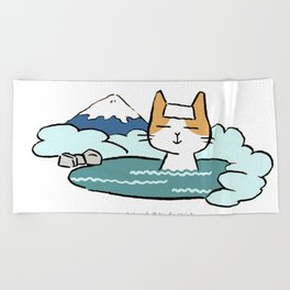 Traveling Kitty Beach Towel