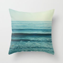 beach waves. Somewhere Throw Pillow