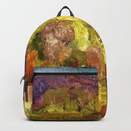 The Village on the Hill landscape painting by George Wesley Bellows Backpack