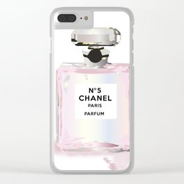 Pink perfume Clear iPhone Case