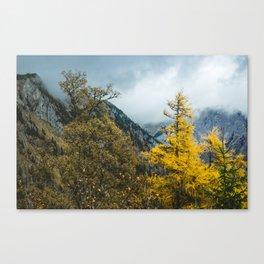 Mountains of Austria. || Autumn in Snow Alps. || Schneealpe. || Österreich. Canvas Print