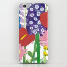 Delphiniums & Anthuriums iPhone & iPod Skin