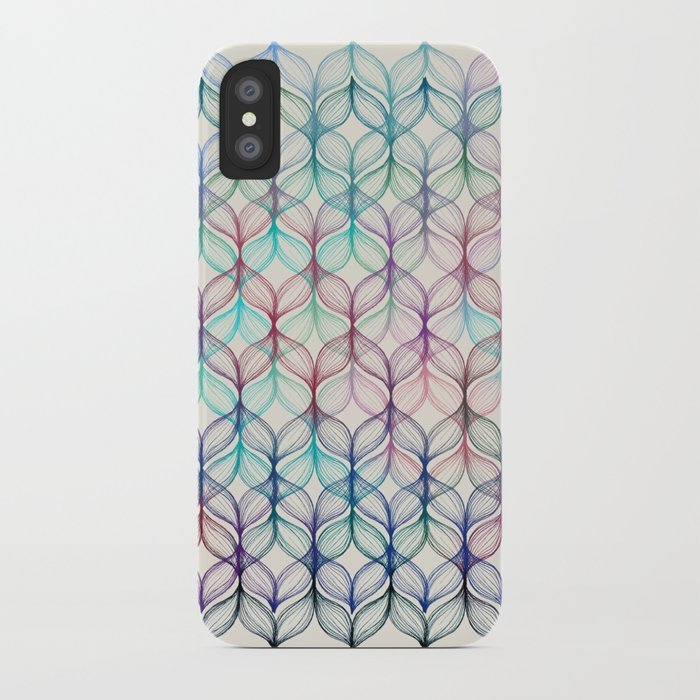 Mermaid's Braids - a colored pencil pattern iPhone Case