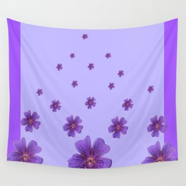 RAINING PURPLE FLOWERS LILAC COLLAGE ART Wall Tapestry