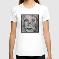 bad wolf T-shirts featuring Bad Wolf  by Chrissie Brown Art