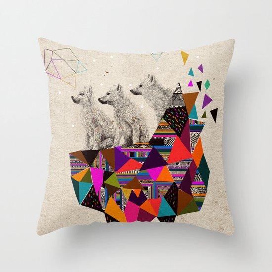 The Night Playground by Peter Striffolino and Kris Tate Throw Pillow