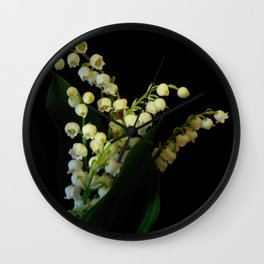 lilly of the valley 3 Wall Clock