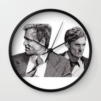 true detective Wall Clocks featuring True Detective by Rik Reimert