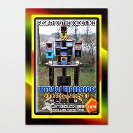 The Battle of the Arcades card Canvas Print