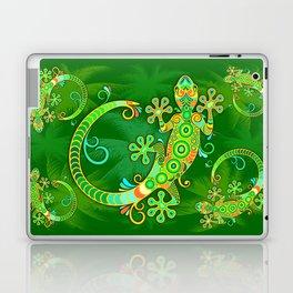 Gecko Lizard Colorful Tattoo Style Laptop & iPad Skin