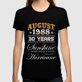 August 1988 Gifts 30 Years Anniversary Celebration T Shirt