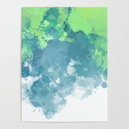 Watercolor Splash Abstract Poster