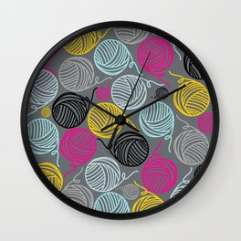 Yarn Yarn Yarn Yarn Yarn Wall Clock