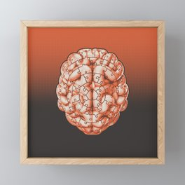 Puzzle brain GINGER / Your brain on puzzles Framed Mini Art Print