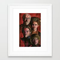 lannister Framed Art Prints featuring House Lannister by Danika