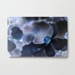 Black Magnolia 2 Metal Print