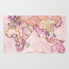 Vintage Map Pattern Rug