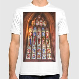 Stained Glass Abbey Window T-shirt