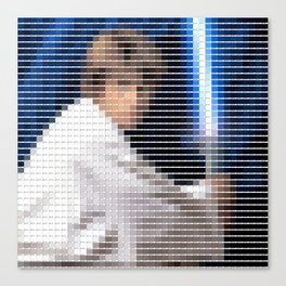 Luke Skywalker - StarWars - Pantone Swatch Art Canvas Print
