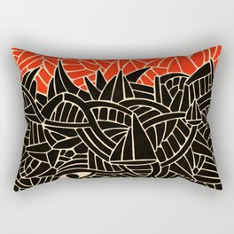 - fall : a red storm and the sea - Rectangular Pillow