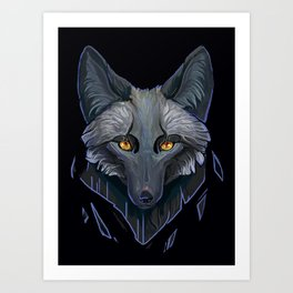 black fox Art Print