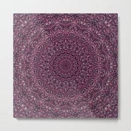 Dark Purple color mandala Sophisticated ornament Metal Print