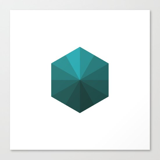#120 A box of rays – Geometry Daily Canvas Print