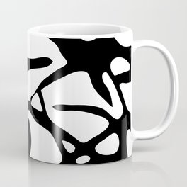 Black and White Abstract Painting II Coffee Mug