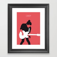 No062 MY RADIOHEAD Minimal Music poster Framed Art Print