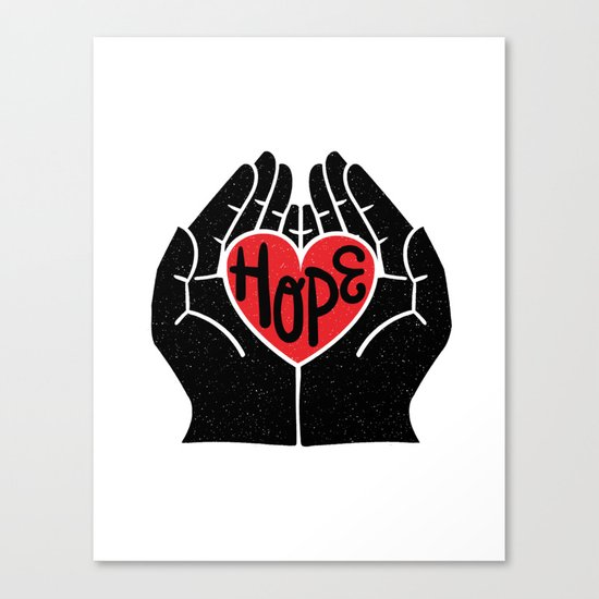 Hold hope in your heart Canvas Print