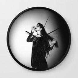 """Marigold"" Dark Fashion Holga Photograph Wall Clock"