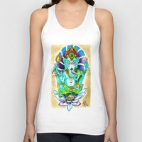 ganesh Tank Tops featuring Ganesh by Lady Noire