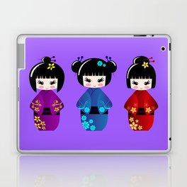 Cute kokeshi dolls cartoon Laptop & iPad Skin