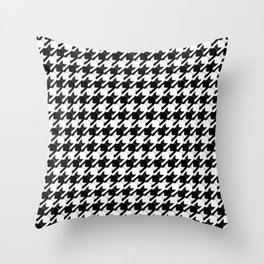 cats-tooth in black and white (houndstooth pattern) Throw Pillow