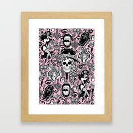 Pink Halloween Framed Art Print