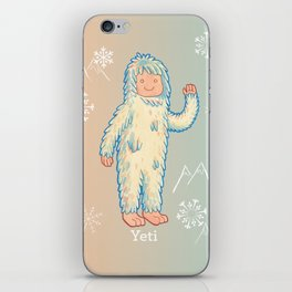 Yeti - Cute Cryptid iPhone Skin
