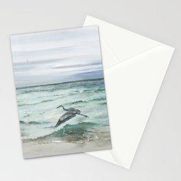 Anna Maria Island Florida Seascape with Heron Stationery Cards