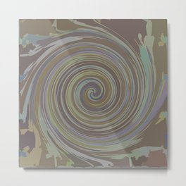 VERTIGO BROWN Metal Print