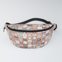 frisson memphis bw orange Fanny Pack