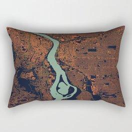 Portland, OR City Map Rectangular Pillow