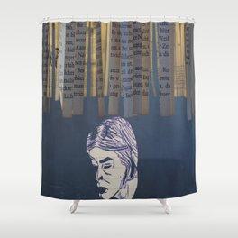 Johanna thinking Shower Curtain