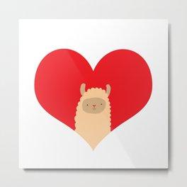 Love Alpaca Metal Print
