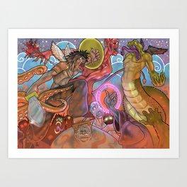 Battle for the heavens Art Print