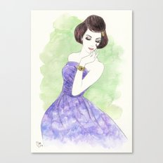 'Nadia' Watercolor Fashion Illustration Canvas Print