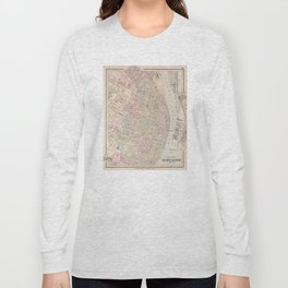 Vintage Map of St Louis MO (1884) Long Sleeve T-shirt