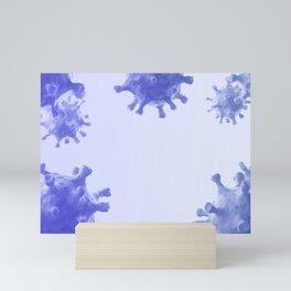 Violet viruses Mini Art Print