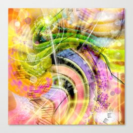QUARK EXPRESS ABSTRACT Canvas Print